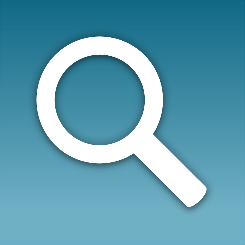 digital marketing icon showing a magnifier