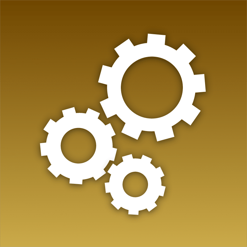 digital marketing icon showing cogs