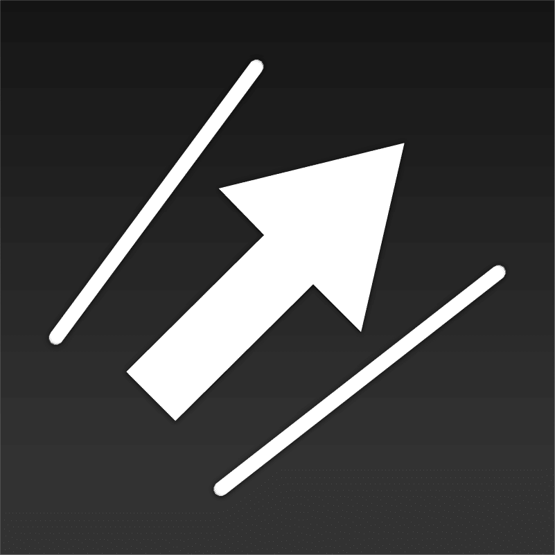 digital marketing icon showing an arrow in between barriers